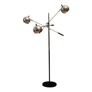 Mid-Century Modern Robert Sonneman Triennale Chrome Floor Lamp For Sale