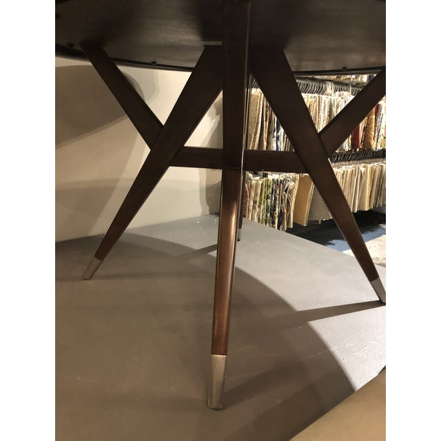 Wood Lexington McArthur Park Strathmore Dining Table For Sale - Image 7 of 9