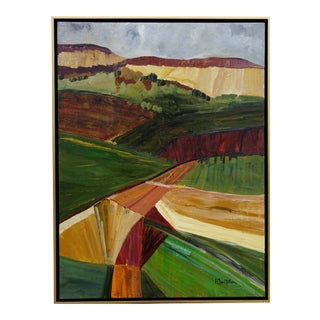 "Original Laurie MacMillan ""Yonder"" Abstract Landscape Painting For Sale"