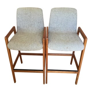 Mid-Century Danish Modern Tarm & Stole Bar Stools - a Pair For Sale