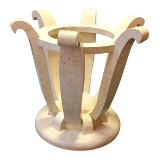 1970s Vintage Deco Inspired Shell Stone Table Base For Sale