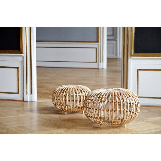 Not Yet Made - Made To Order Franco Albini Large Ottoman - Natural For Sale - Image 5 of 9