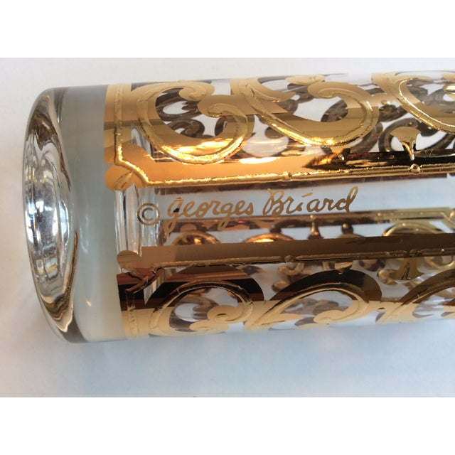 Signed Georges Briard 1960 Spanish Scroll Tumblers - Image 3 of 7