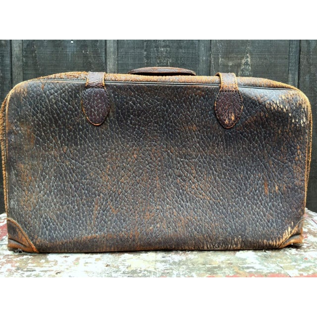 Leather Strap Suitcase For Sale - Image 4 of 13