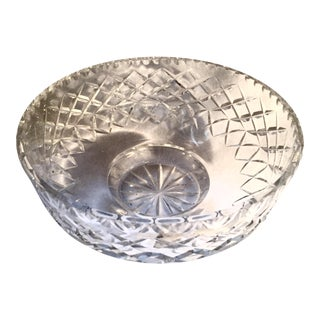 1950s West German Footed Lead Crystal Bowl For Sale