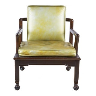 Widdicomb Set of 4 Dining Armchairs in Gold Green Leather and Ebony Preview