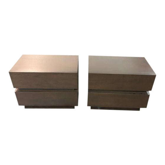 Lawson-Fenning Stacked Box Nightstands - A Pair For Sale