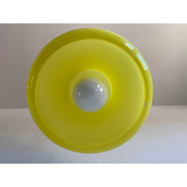 Canary Yellow Italian Modern Pendant Chandelier For Sale - Image 8 of 12