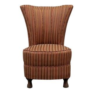 Antique Striped Slipper Chair