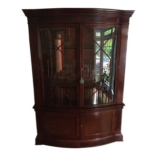 Mahogany Breakfront China Cabinet Baker Furniture Historic Charleston For Sale
