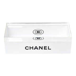 Lucite 2 Part Chanel Box For Sale