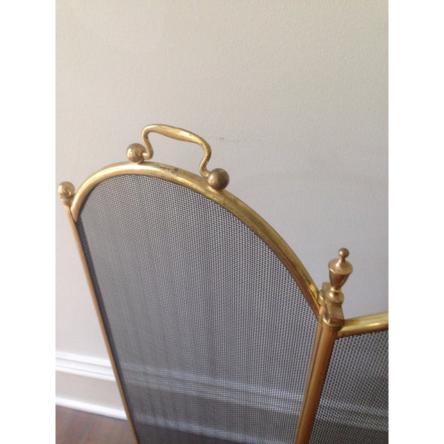 Vintage 1970's Brass Fireplace Screen - Image 3 of 3