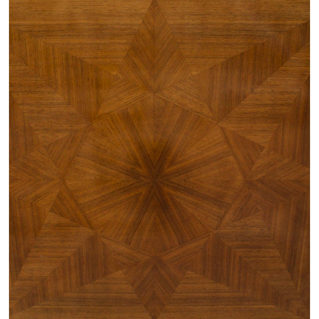 1940s French Art Deco Light Mahogany Square Game Table For Sale - Image 4 of 7