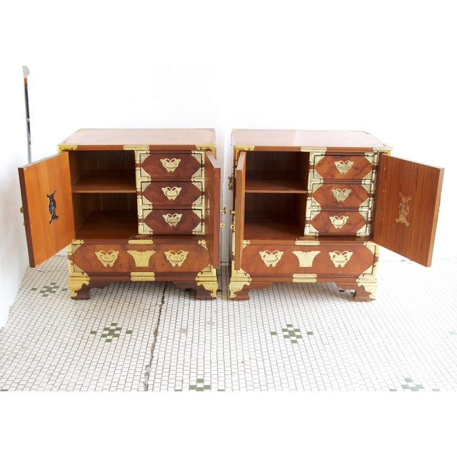 Asian-Style Butterfly Chests - Pair - Image 5 of 8