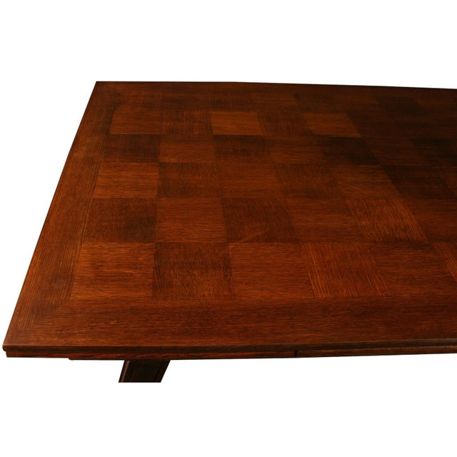 Wood Vintage French Renaissance-Style Dining Table For Sale - Image 7 of 12
