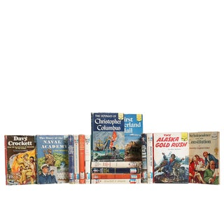 American History for Kids : Set of Sixteen Decorative Books For Sale