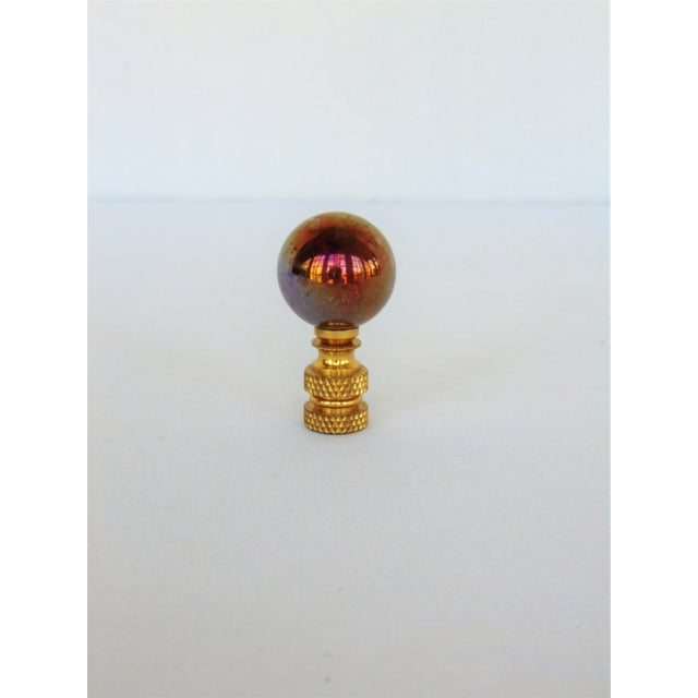 Purple Iridescent Glass Ball Lamp Finial - Image 2 of 3