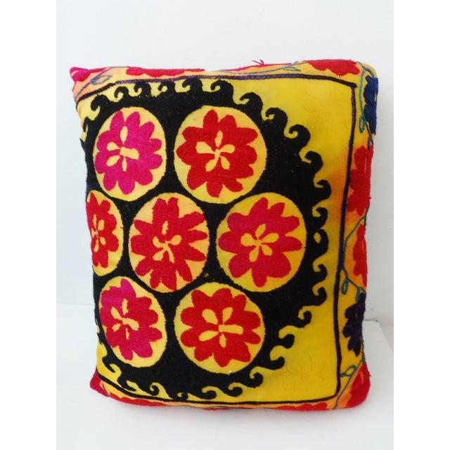 Vintage Uzbek Suzani Pillow - Image 4 of 8