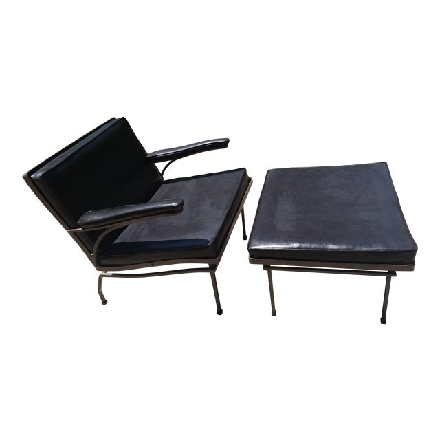Mid-Century Russel Woodard Lounge Chair & Ottoman - Image 1 of 7