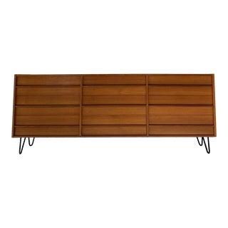 Danish Modern Long Dresser or Chest For Sale