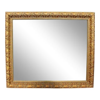 Carved Wood Gilt Washed Mirror