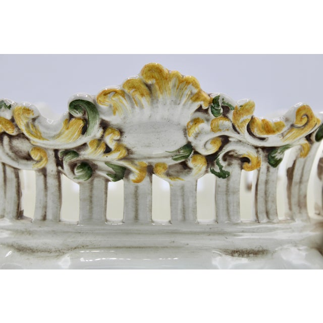 Italian Ceramic Footed Jardiniere For Sale - Image 12 of 13