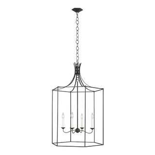 Alexa Hampton by Generation Lighting Bantry House Large Lantern, Silver For Sale