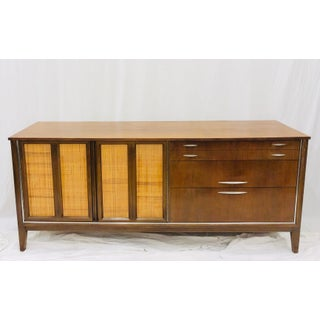 Vintage Mid Century Modern Woven Panel Credenza Dresser Preview
