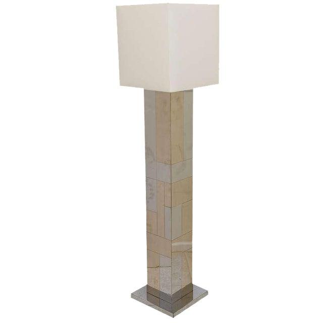 """Paul Evans Dual Metal """"Cityscape"""" Floor Lamp For Sale"""