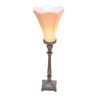 French Deco Torchiere Table Lamp For Sale