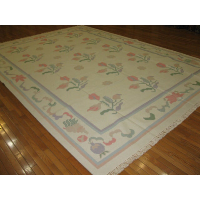 Large New Hand Woven Indian Dhurrie Rug - 10' x 14' - Image 5 of 5