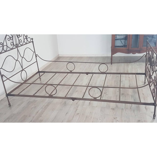 19th Century Empire Iron Single Bed For Sale - Image 9 of 13