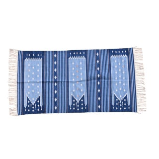 Periwinkle Rug, 5x8, Blue & Baby Blue For Sale