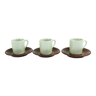 1970s Neiman Marcus Demitasse Cups - Set of 3 For Sale
