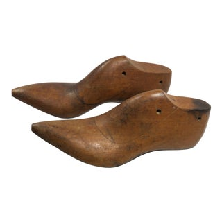 Vintage Mahogany Cowboy Boot Shoe Lasts - a Pair For Sale
