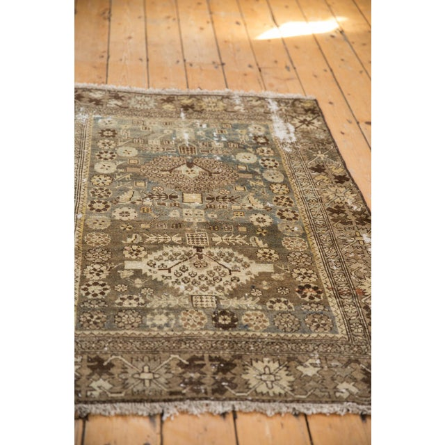 """Cotton Vintage Distressed Malayer Rug - 3'3"""" X 4'7"""" For Sale - Image 7 of 11"""