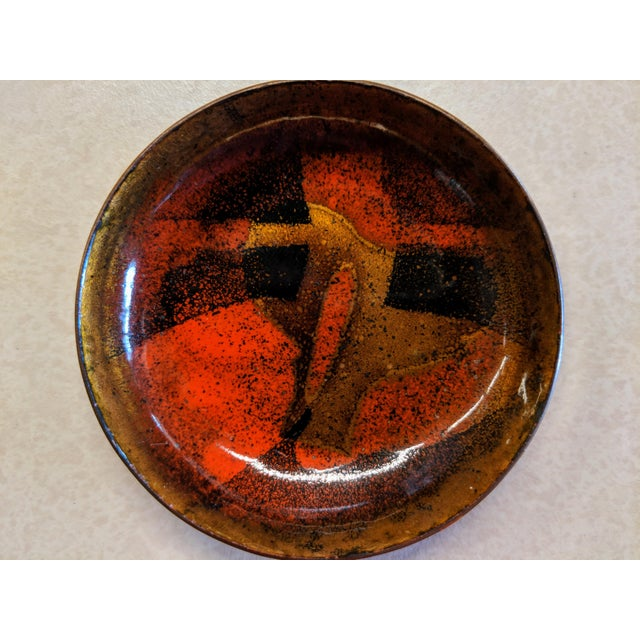 Mid-Century Modern Enamel on Copper Small Bowls - Set of 4 - Image 2 of 7
