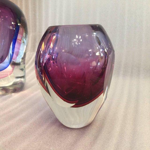 Flavio Poli Luigi Onesto Murano Glass Decanter and Vase - a Pair For Sale - Image 4 of 6