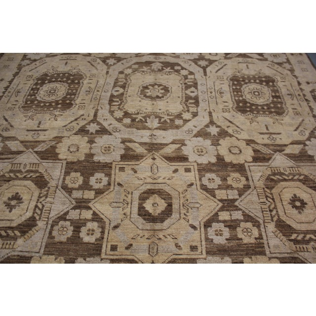 "Hand Knotted Fine Oushak Rug by Aara Rugs Inc. - 8'11"" X 13'1"" For Sale - Image 5 of 5"