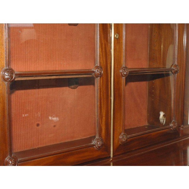 Mahogany Early 19th Century English Regency Period Secretary Bookcase For Sale - Image 7 of 7
