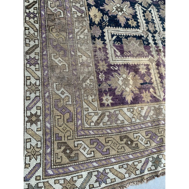 Antique Caucasian Wool Rug - 3′8″ × 5′1″ For Sale In Los Angeles - Image 6 of 7