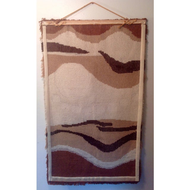 Danish Modern Wool Rya Hand Knotted Textile - Image 6 of 7