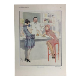 1927 French Print of Flappers by W. S. Hutton For Sale