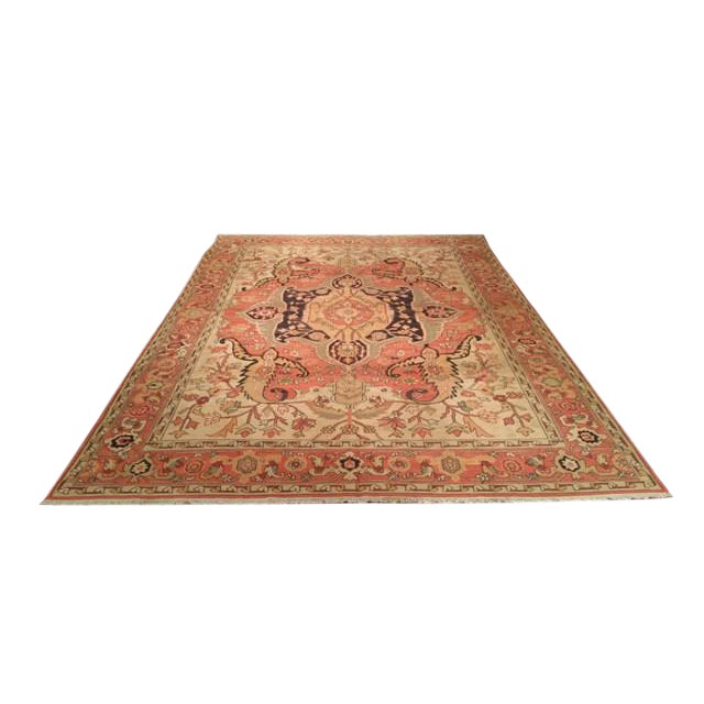 Antique Reproduction Flat Weave Soumak Hand Made Rug - 10x14 For Sale