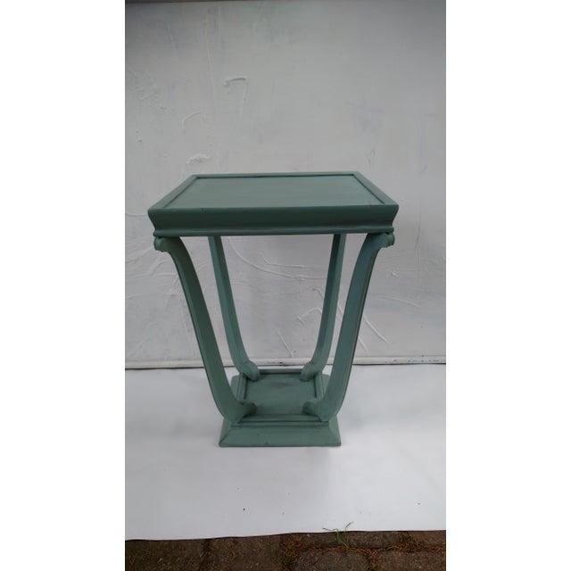 Blue Glazed Side Table - Image 2 of 6
