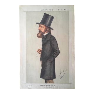 Vanity Fair 1871 Antique Caricature of Alfred Lord Tennyson