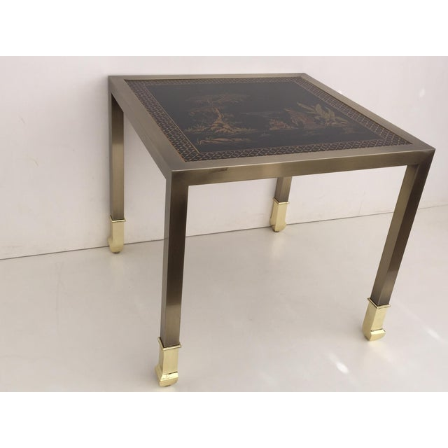 DIA Brass Chinoiserie Design Side Tables - Pair - Image 8 of 9