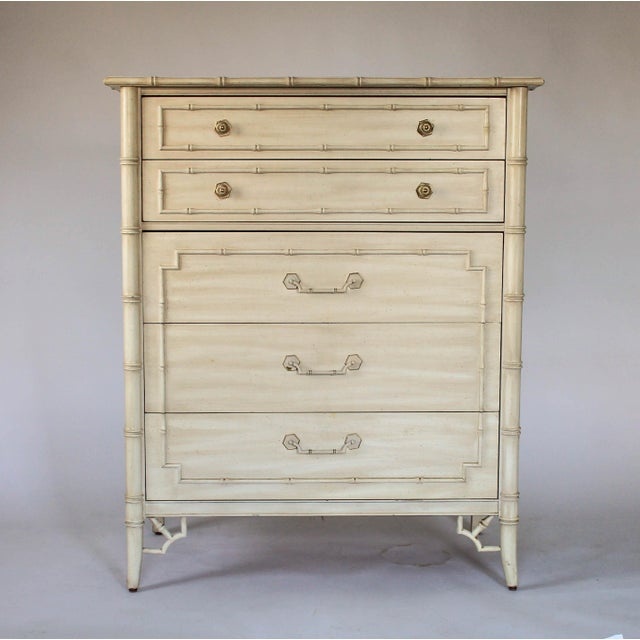 Thomasville Faux Bamboo Chest of Drawers For Sale - Image 10 of 11