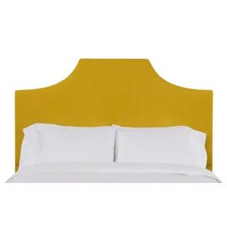 Kit California King Headboard, Golden Velvet For Sale