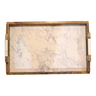 Early 21st Century Vintage Rustic Farmhouse Tray For Sale